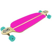 Racing Longboard DOUBLE DROP PINK 70mm Wheels, 180mm Trucks, Abec 7 Bearings