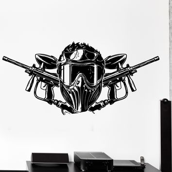 Wall Vinyl Decal Paintball Airsoft Guns Helmets Home Interior Decor Unique Gift z4159