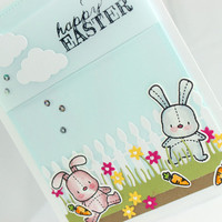 Easter Card - Bunnies - Spring - Happy Easter