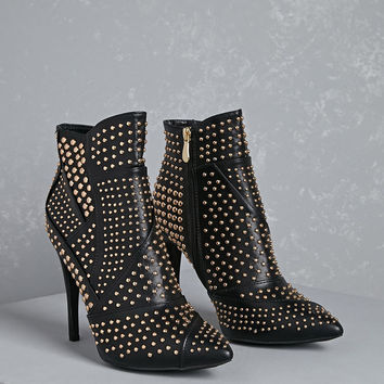 Studded Geo Ankle Boots