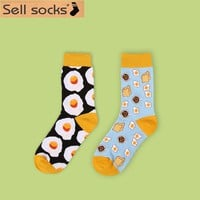New 2015 Autumn winter Dessert food creative pattern high quality cotton women socks fashin sock long EUR 35-40 1344