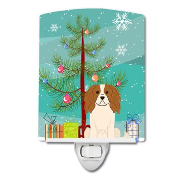 Merry Christmas Tree Cavalier Spaniel Ceramic Night Light BB4183CNL