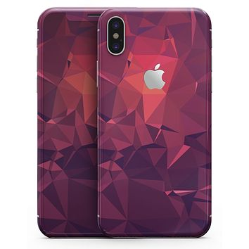 Dark Pink Geometric V19 - iPhone X Skin-Kit