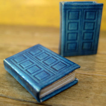 River Song's TARDIS journal in dollhouse by LittleWooStudio