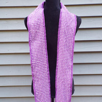 Religious Stole, Handwoven cotton stole for minister, pastor, gift for priest, purple stole, violet stole for advent lent liturgical, clergy