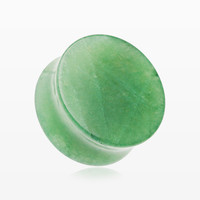 A Pair of Jade Aventurine Stone Double Flared Ear Gauge Plug