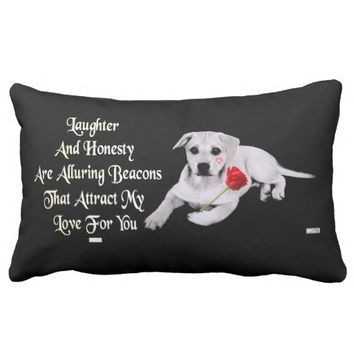 Attract Just Because Love Greeting by Kat Worth Lumbar Pillow