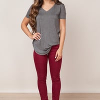 Too Cool Burgundy Jeans