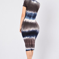 Dye Me Up Dress - Navy