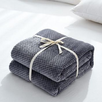 CAMMITEVER Microfiber Flannel Throw Blanket, for Traveling, Hiking, Camping , TV, Cabin, Couch, Bedcover. All-Season Super Soft