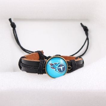 2018 New Arrival Sport Jewelry Tennessee Titans Charms Bracelet&Bangle American Football Sport Bracelet 6pcs/lot