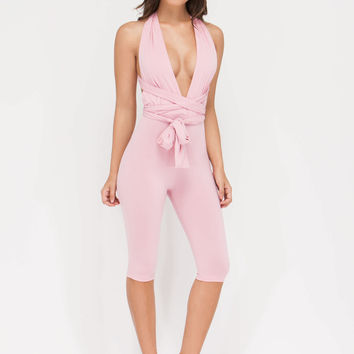 Take Charge Convertible Cropped Jumpsuit