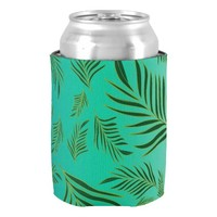 Palm Leaves Pattern Can Cooler