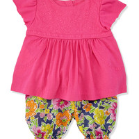 Enzyme Boho Floral Tunic & Bloomers Set, Madison Pink, Sizes 9-24 Months - Ralph Lauren Childrenswear