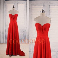 Red Long Bridesmaid Dresses ,Cheap Prom Dresses, Fashion Homecoming Dresses ,Cheap Evening Dresses ,Wedding Party Dresses ,Cheap Party Dress