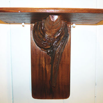 Tree Knot Shelf, Found wood, Hand Crafted, One Of A Kind