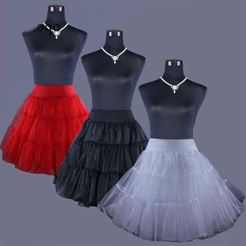 Short Petticoat Crinoline Bridal Petticoat for Wedding Dresses Underskirt Rockabilly Tutu
