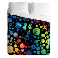 Madart Inc. Polka Dots Black Duvet Cover