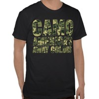 Camo America's Away Colors Shirt from Zazzle.com
