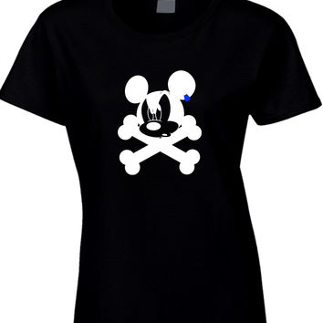 Disney Mickey Mouse Pirate Womens T Shirt