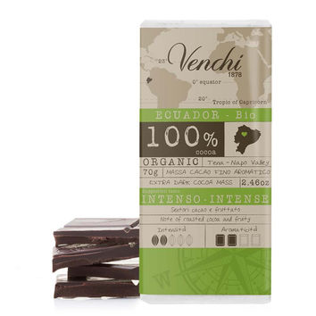 Organic Extra Dark Chocolate by Venchi 2.46 oz