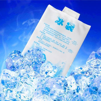 400ML water ice bag fresh frozen food biological dry ice bag cooling ice ice bag