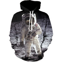 Astronaut on the Moon Hoodie