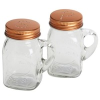 Mason Jar Shaker Set With Copper Lids - Walmart.com