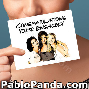Funny Engagement Card | Friends Card | congratulations anniversary thank you thinking I love you boyfriend girlfriend best friend him her
