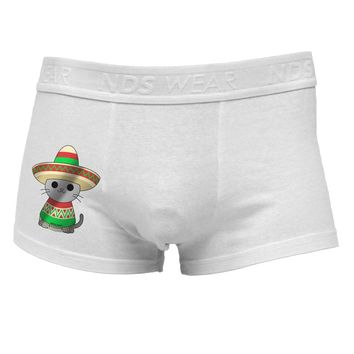 Sombrero and Poncho Cat - Metallic Side Printed Mens Trunk Underwear by TooLoud