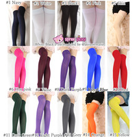 [3 For 2] 3 Colors Cosplay Basic Pure Color Thigh High Stocking SP130234