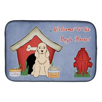 Dog House Collection Cocker Spaniel Buff Dish Drying Mat BB2848DDM