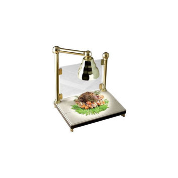 24 x 18 x 30 1/2 inch Carving Station with Sneeze Guard and Heat Lamp