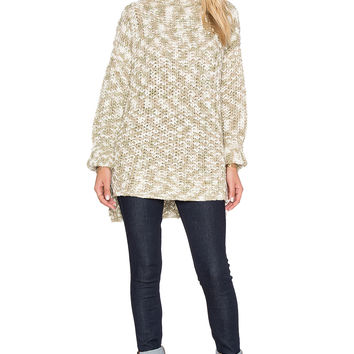FAITHFULL THE BRAND Rebel Sweater in Cream & Beige
