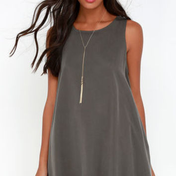 You Don't Sway Grey Swing Dress