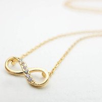 Gold Infinity Necklace Gold necklace Cute necklace Charm necklace Gift mom Birthday presents Gift best friend Birthday presents