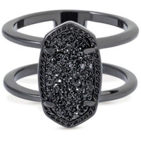 Kendra Scott: Elyse Ring In Black Drusy