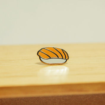 Salmon Enamel Pin