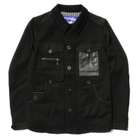x Hervier Productions Wool & Doeskin Shirt Jacket