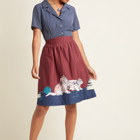 Style Study A-Line Skirt in Scholarly Kitties