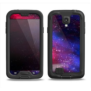 The Vivid Pink Galaxy Lights Samsung Galaxy S4 LifeProof Fre Case Skin Set