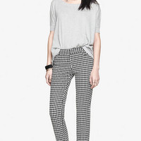 TEXTURED HOUNDSTOOTH SLIM LEG COLUMNIST PANT from EXPRESS