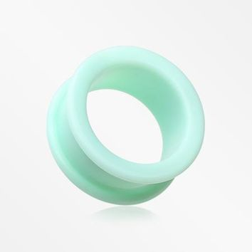 A Pair Of Soft Pastel Silicone Double Flared Tunnel Plug