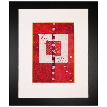 Paint the Town Framed Mini Quilt