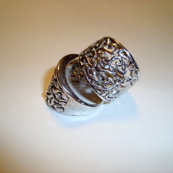 Lattice Design Sterling Silver Ring - Handmade Using Lost Wax Tecniques - Modern Design - Size 8 and 6 3-4 - Statement Design - Fine Jewelry