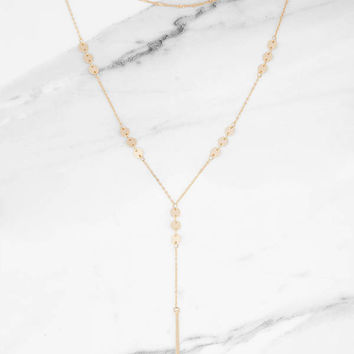 Pulling Heartstrings Layered Necklace