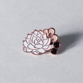 Succulent Soft Enamel Pin | Rose Gold | Lapel Pin | Pin Badge | Hat Pin | Gift for Her | Valentine's Day Gift | Valentine's Gift