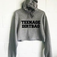 Teenage Dirtbag Cropped Hoodie