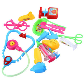 2016 Hot Sale Creative Kids Doctor Medical Play Miniature Toys Set Pretend Carry Case Kit Role Play Toys Baby Toys