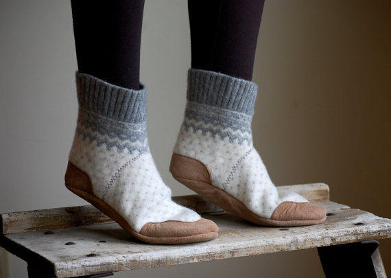 Women Slipper Socks Wool House Slippers From Woolybaby